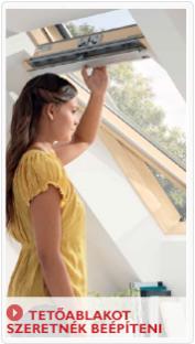 Teljesen új VELUX tető-ablakot szeretnék