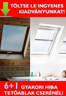 6+1 hiba, amit elkerülhet tetőablak cseréjénél