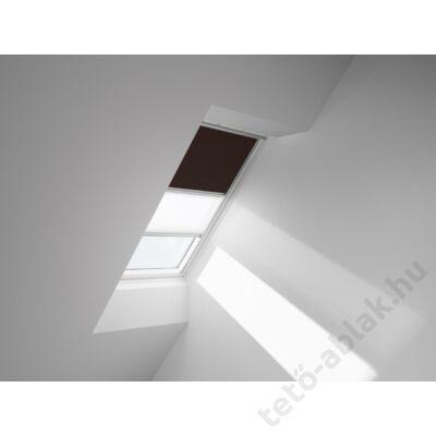VELUX DFD Duo fényzáró roló 134x160cm UK10 4559 Sötétbarna-Fehér