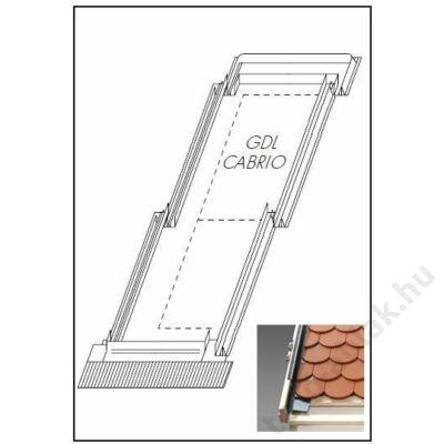 VELUX EDW burkolókeret GDL tetőerkélyhez 114x252cm SK19